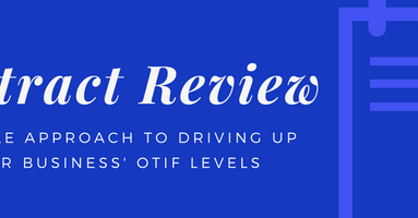 Use the contract review process to drive up OTIF levels