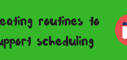 Production Scheduling benefits from routines