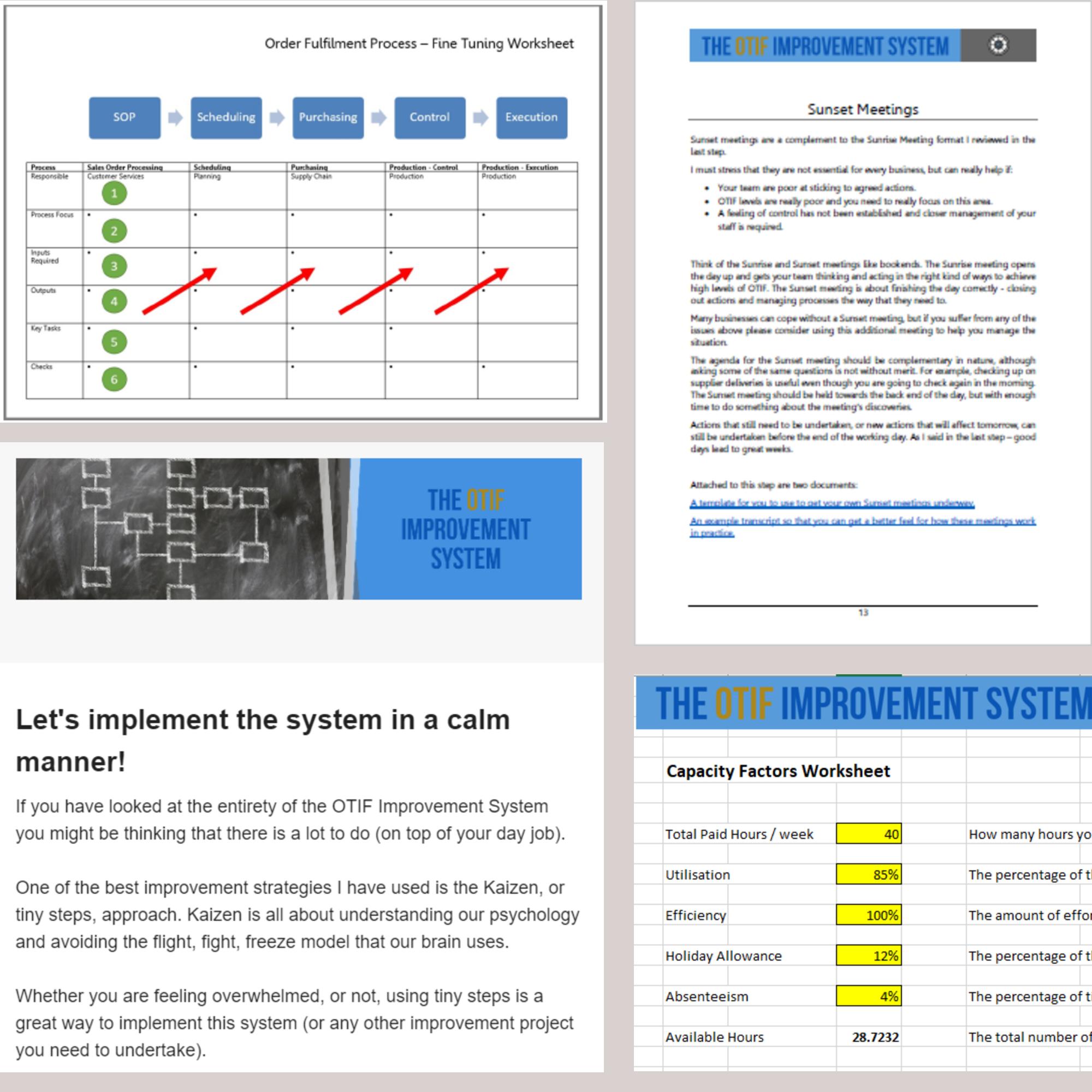 OTIF Improvement System contents