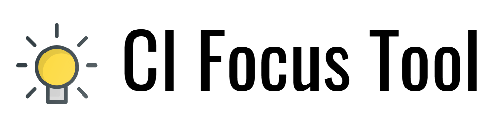 Continuous Improvement Focus Tool