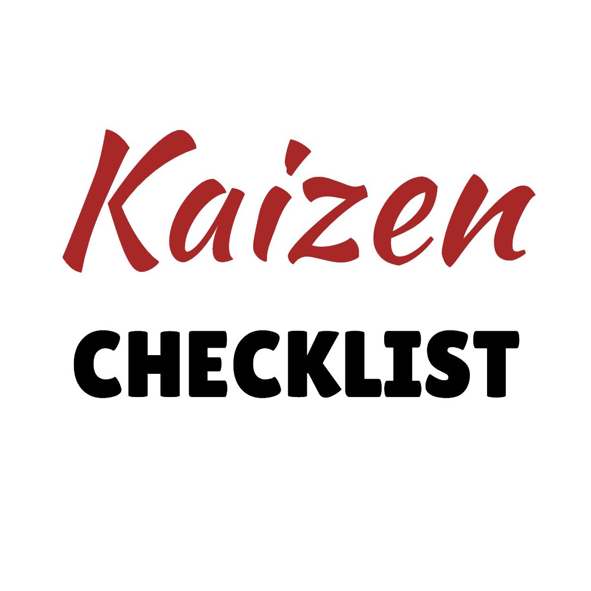 Kaizen System Checklist