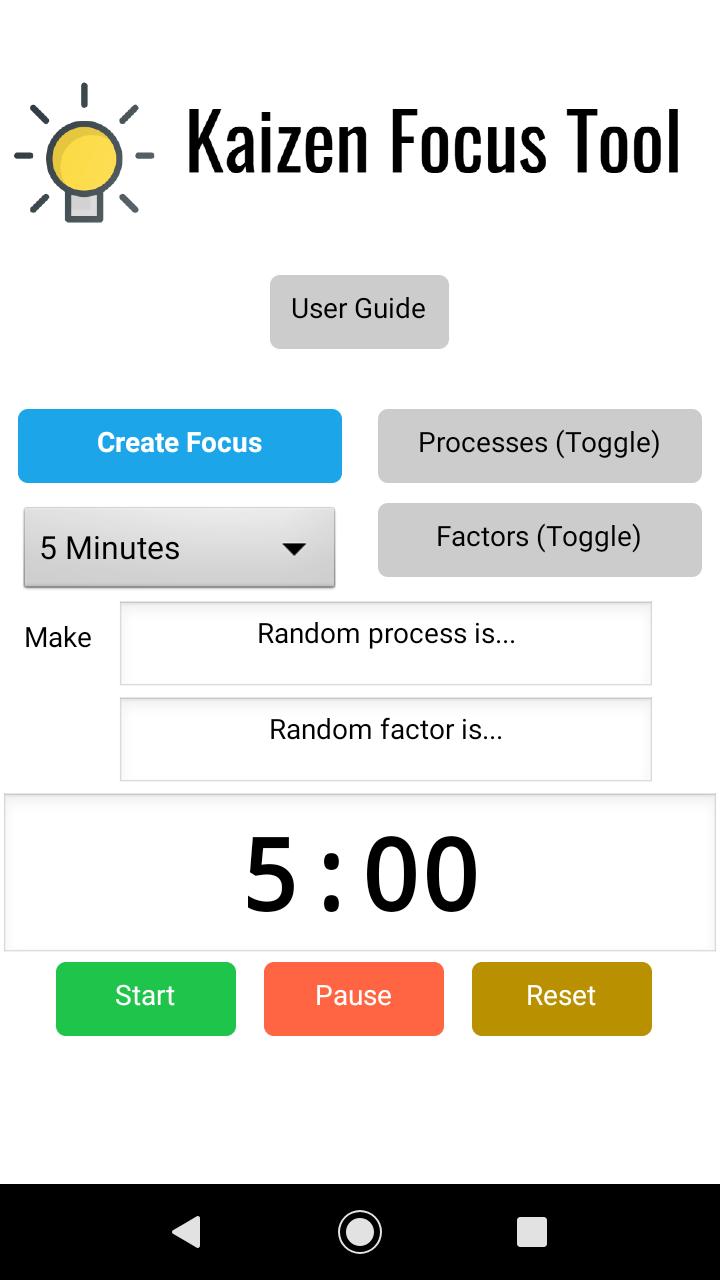 Kaizen Idea Generator App