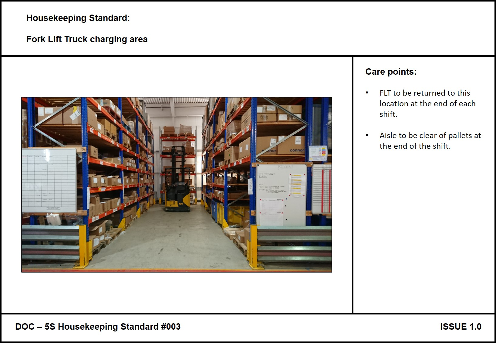 Strong OTIF performance and standards